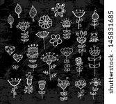 set of the flower elements... | Shutterstock .eps vector #145831685
