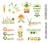 set of vegetarian food icons. ... | Shutterstock .eps vector #145832015