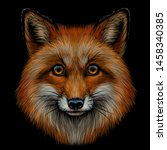 Fox. Graphic Color Portrait Of ...