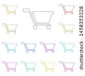 shopping cart multi color icon. ...