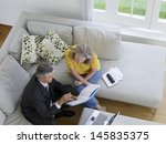 elevated view of a mature woman ... | Shutterstock . vector #145835375