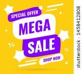banner mega sale  special offer ...   Shutterstock .eps vector #1458412808