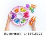 montessori material. children's ... | Shutterstock . vector #1458415328