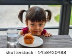 asian child girl waiting to eat ... | Shutterstock . vector #1458420488