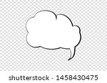 comic speech bubble isolated... | Shutterstock .eps vector #1458430475
