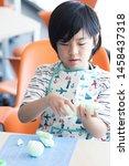 elementary school student... | Shutterstock . vector #1458437318