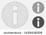 mesh info model with triangle... | Shutterstock .eps vector #1458438308