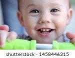 gaze of a smiling little child... | Shutterstock . vector #1458446315