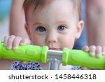gaze of a smiling little child... | Shutterstock . vector #1458446318