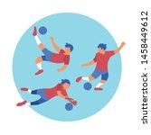 football sports activities... | Shutterstock .eps vector #1458449612