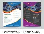 corporate business flyer poster ... | Shutterstock .eps vector #1458456302