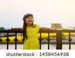 asian child girls wearing... | Shutterstock . vector #1458456938