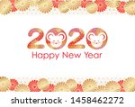 new year s greeting card... | Shutterstock .eps vector #1458462272