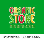 vector bright sign organic... | Shutterstock .eps vector #1458465302