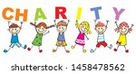 charity  helping children ... | Shutterstock .eps vector #1458478562