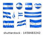 various flags of nicaragua... | Shutterstock .eps vector #1458483242