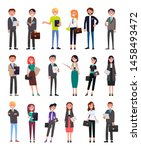 entrepreneurs executive workers ... | Shutterstock . vector #1458493472