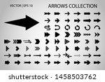 arrow isolated vector icon set. ... | Shutterstock .eps vector #1458503762