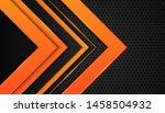 modern 3d geometry shapes black ... | Shutterstock .eps vector #1458504932