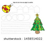 christmas tree with a ball.... | Shutterstock .eps vector #1458514022