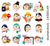glossy occupation icons   part... | Shutterstock .eps vector #14585149