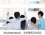 primary schoolchild who makes... | Shutterstock . vector #1458521432