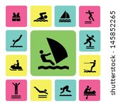 water sport icons for use | Shutterstock .eps vector #145852265