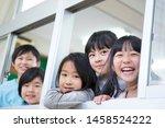 primary schoolchild who makes... | Shutterstock . vector #1458524222