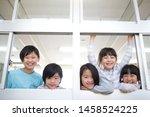 primary schoolchild who makes... | Shutterstock . vector #1458524225