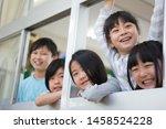 primary schoolchild who makes... | Shutterstock . vector #1458524228