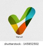positive checkmark   tick on... | Shutterstock .eps vector #145852502