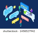 isometric review vector....   Shutterstock .eps vector #1458527942