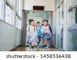 elementary school student... | Shutterstock . vector #1458536438