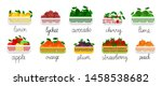Fruits In Containers Vector...