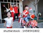 children having fun in... | Shutterstock . vector #1458541802