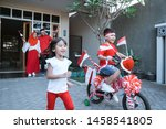 children having fun in... | Shutterstock . vector #1458541805