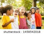 multi ethnic group of school... | Shutterstock . vector #1458542018