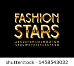 vector golden poster fashion... | Shutterstock .eps vector #1458543032