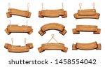 wooden banners. blank... | Shutterstock .eps vector #1458554042