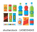 snack food. cookies crackers... | Shutterstock .eps vector #1458554045
