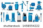 water pumps. iron electric... | Shutterstock .eps vector #1458554222