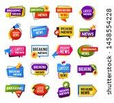 news announce. advertising... | Shutterstock .eps vector #1458554228