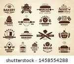 bakery labels. pastry and... | Shutterstock .eps vector #1458554288