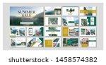 business presentation template. ... | Shutterstock .eps vector #1458574382