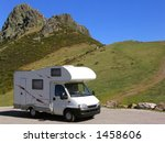 motorhome parked at the... | Shutterstock . vector #1458606