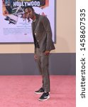 Small photo of LOS ANGELES - JUL 22: Travis Scott arrives for the 'Once Upon A Time In Hollywood' Los Angeles Premiere on July 22, 2019 in Hollywood, CA