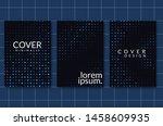 black paper cut background.... | Shutterstock .eps vector #1458609935