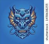 the dragon head mascot logo... | Shutterstock .eps vector #1458638255