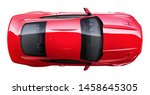 Stock photo red muscle car top view d render 1458645305