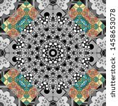 seamless pattern in yellow ... | Shutterstock .eps vector #1458653078